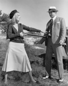 """Faye Dunaway and Warren Beatty in """"Bonnie and Clyde""""1967 Warner Brothers** I.V. / M.T. - Image 0601_0230"""