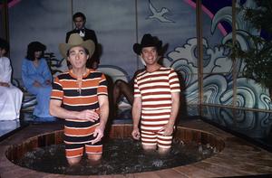 Larry Hagman and Sid Caesarcirca 1970s© 1978 Gary Lewis - Image 0615_0055