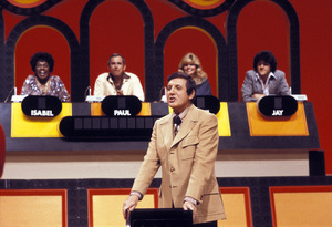 Monty Hall with Isabel Sanford, Paul Lynde, Loni Anderson and Jay Lenocirca 1970Photo by Gabi Rona - Image 0617_0044