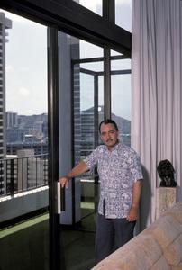 John Hillerman at home1982 © 1982 Gene Trindl - Image 0622_0007