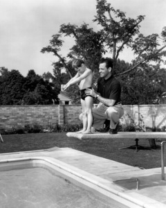 """William Holden wth son Scott,during the time of  his 1952 film""""Turning Point"""" / ParamountPhoto by Bulloch / **I.V. - Image 0623_0161"""
