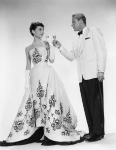 """Audrey Hepburn and William Holden from """"Sabrina""""1954** I.V. - Image 0623_0181"""