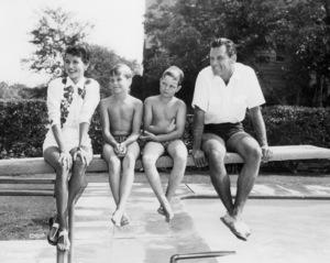 Brenda Marshall, William Holden and kids circa 1954** I.V./M.T. - Image 0623_0199