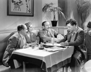 "Barbara Stanwyck, Adolphe Menjou and William Holden in ""Golden Boy""1939** I.V / M.T. - Image 0623_0212"