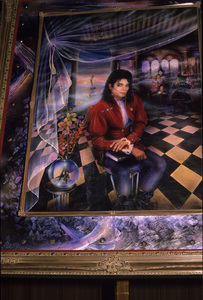 "Portrait of Michael Jackson, entitled ""The Book""1990 © 1990 Jean Cummings - Image 0628_0102"