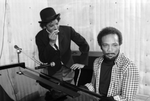 Michael Jackson and Quincy Jones composing songs in a Los Angeles recording studio 1979 © 2009 Bobby Holland  - Image 0628_0108