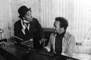 Michael Jackson and Quincy Jones composing songs in a Los Angeles recording studio 1979 © 2009 Bobby Holland  - Image 0628_0110