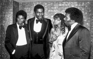 Michael Jackson, Willis Edwards and Peaches & Herb (Herb Fame and Francine Hurd Barker)1979© 1979 Michael Jones - Image 0628_0169