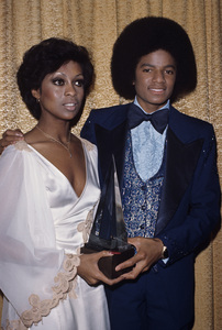 "Michael Jackson and Lola Falana at ""The American Music Awards""1977© 1978 Gary Lewis - Image 0628_0173"