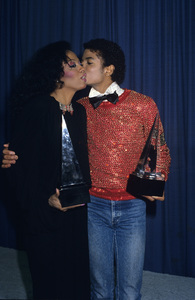 """Michael Jackson and Diana Ross at """"The American Music Awards""""1981© 1981 Gary Lewis - Image 0628_0177"""
