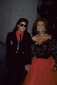 Michael Jackson and Sophia Loren1987© 1987 Gary Lewis - Image 0628_0180