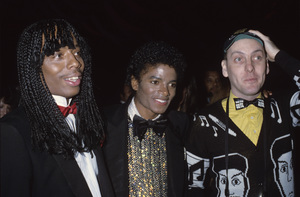 Michael Jackson with Rick James and Cheap Trick1982© 1982 Gary Lewis - Image 0628_0185