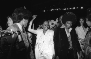 "Diana Ross and Michael Jackson at the Century City movie premiere of ""The Wiz""1978© 1978 Bobby Holland - Image 0628_0197"