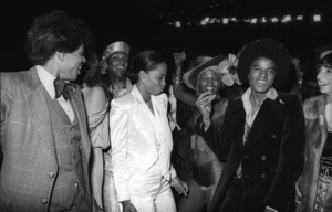 """Diana Ross and Michael Jackson at the Century City movie premiere of """"The Wiz""""1978© 1978 Bobby Holland - Image 0628_0199"""