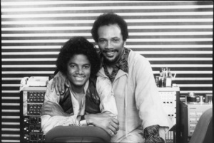 Michael Jackson and Quincy Jones in Los Angeles 1979© 1979 Bobby Holland - Image 0628_0211