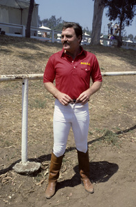 Stacy Keach playing polo1984 © 1984 Ulvis Alberts - Image 0631_0007