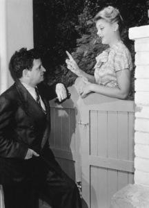 Angela Lansbury and Sydney Skolsky,c. 1943.**I.V. - Image 0633_0027