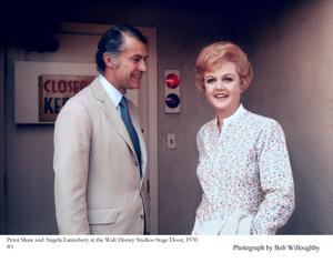 Angela Lansbury and husband Peter Shaw at Walt Disney Studios, 1970 © 1978 Bob Willoughby - Image 0633_0031