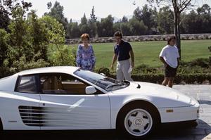Angela Lansbury and a 1987 Ferrari Testarosa1987 © 1987 Gene Trindl - Image 0633_0041