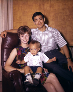 Bruce Lee, with his wife and son Brandon Leecirca 1967**I.V. - Image 0635_0011