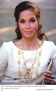 Mary Tyler Moore at home in Beverly Hills fora Family Circle Pasta Jewelery Feature, 1971 © 1978 Bob Willoughby - Image 0645_0125