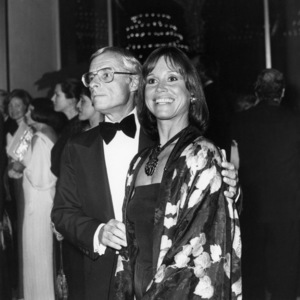 Grant Tinker and Mary Tyler Moore attend a dinner for Henry Kissinger at the Century Plaza Hotel (The dinner was given by the National Conference of Christians & Jews) 1977Photo by Frank Edwards** B.D.M. - Image 0645_0147