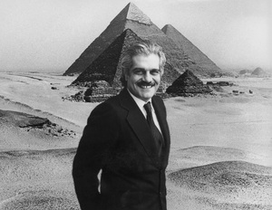 """Omar Sharif hosting """"Mysteries of the Great Pyramids""""1978**H.L. - Image 0655_0117"""