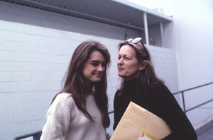 Brooke Shields with mom, Teri,at rehearsal for a Bob Hope special © 1981 Gunther - Image 0656_0196