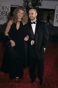 """Brooke Shields and Andre Agassi at """"The 54th Annual Golden Globe Awards""""1997 © 1997 Gary Lewis - Image 0656_0227"""