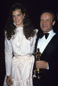 "Brooke Shields and Anatoli Dyuzhuv, who accepted the award for Best Foreign Language Film at ""The 53rd Annual Academy Awards"" 1981 © 1981 Gary Lewis - Image 0656_0238"