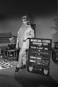 "Connie Stevens during a wardrobe test for the film ""Susan Slade""1960© 1978 David Sutton - Image 0658_0131"