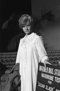 "Connie Stevens during a wardrobe test for the film ""Susan Slade""1960© 1978 David Sutton - Image 0658_0132"
