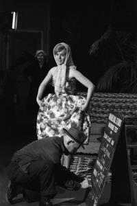 "Connie Stevens during a wardrobe test for the film ""Susan Slade""1960© 1978 David Sutton - Image 0658_0133"