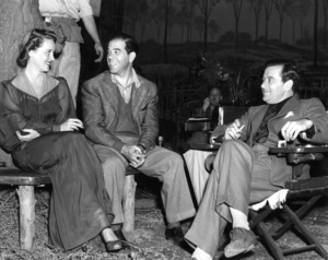 """Bette Davis with directors Frank Capra and William Wyler.""""The Letter,"""" 1940. Photo by Bert Six - Image 0701_0320"""
