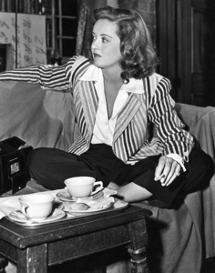 """Bette Davis during a break whilefilming of """"The Corn Is Green,"""" 1945.Photo by Morgan - Image 0701_1249"""