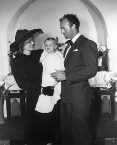Bette Davis, Barbara Davis Sherry and William Grant Sherry at Barbara