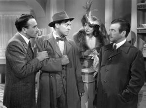 "Walter Abel, Richard Waring, Bette Davis, Claude Rainsin ""Mr. Skeffington,"" 1944. - Image 0701_1277"