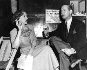 "Bette Davis and Robert Montgomery onthe set of ""June Bride"" 1948.Photo by Morgan - Image 0701_1289"