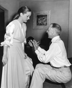 """Bette Davis, Henry BlankeBehind the scenes of """"Deception,"""" 1946.Photo by Pat Clark - Image 0701_1298"""