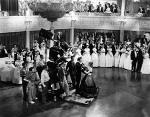 "Bette Davis, Henry Fonda, Dir. William Wyleron the set of  ""Jezebel,"" 1938. - Image 0701_1305"