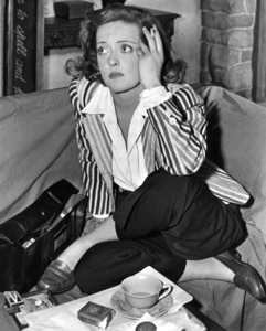 """Bette Davis between sceneswhile filming """"The Corn Is Green"""" 1945.Photo by Morgan - Image 0701_1348"""