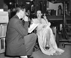 "Bette Davis on the set of""Deception"" 1946.Photo by Pat Clark - Image 0701_1361"