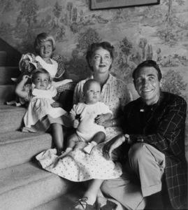 Bette Davis, Gary Merrill, Barbara Davis, Sherry(eldest daughter). Michael, Margot (both adopted), c. 1952. - Image 0701_2121