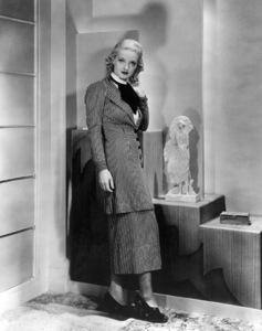 "Bette Davis for ""King Of Fashion."" Costume Designedby Orry Kelly. 1934 / Warner.Photo by Homer Van Pelt - Image 0701_2125"