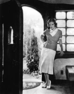 Bette Davis at her Warner Brothers bungalow on Hollywood Way in Burbank1932** I.V. - Image 0701_2267