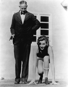 Greta Garbo with USC track coachDean Cromwell, c. 1923.Photo by Don Gillum**R.C. - Image 0702_0600