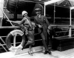Greta Garbo with her mentor Mauritz Stiller, 1925.**R.C. - Image 0702_5039