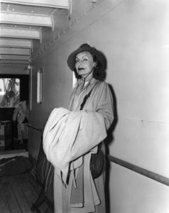 Greta Garbo aboard the liner Gripsholm07-06-1946** I.V. - Image 0702_5126