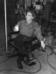 """Ann Sheridan on the """"Silver River"""" set at Warner Brothers1948Photo by Lloyd MacLean - Image 0703_0831"""