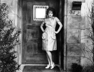 Clara Bow at the doorwayof her Beverly HIlls home, 1928.**I.V. - Image 0704_0377